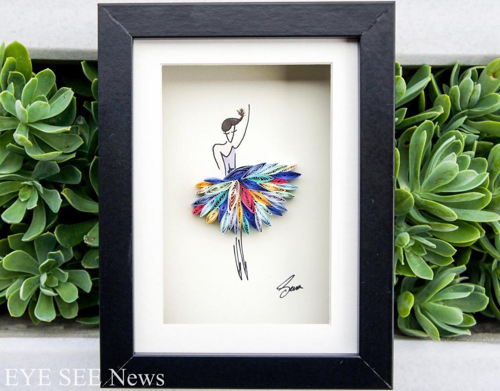 土耳其設計師Sena Runa的捲紙藝術作品 圖/Sena Runa的Etsy