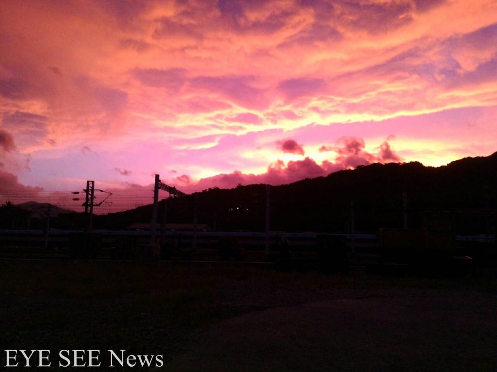 杜鵑過境,台東天空火在燒 ESN 記者台東現場拍攝  圖/ESN記者