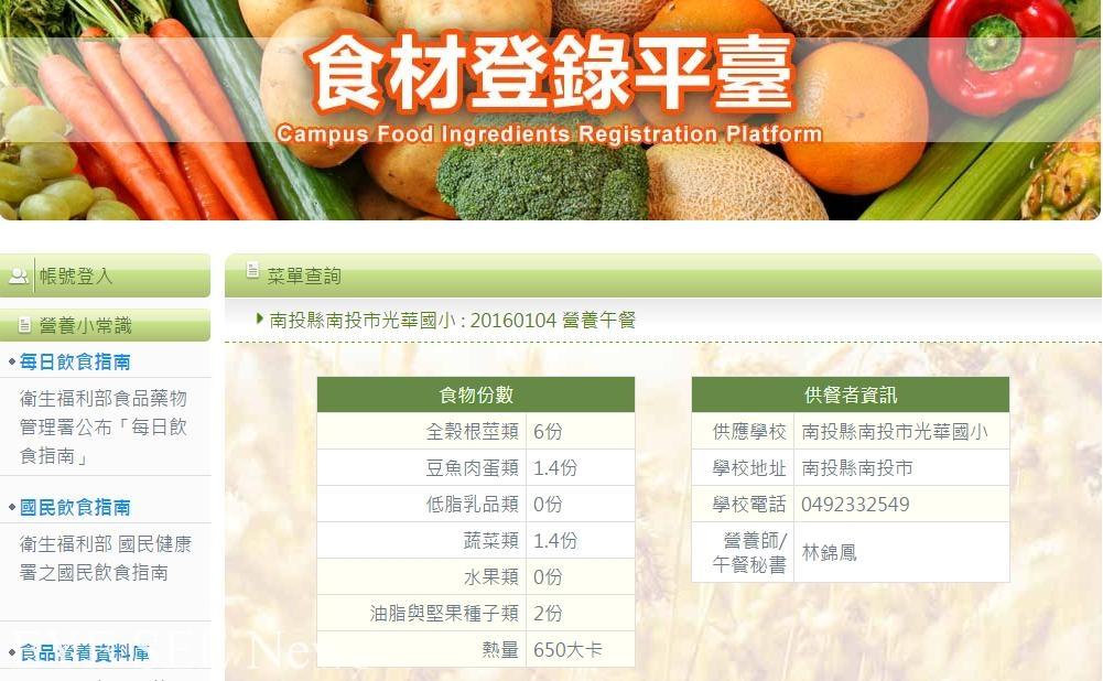 食材登錄平臺。圖/資策會