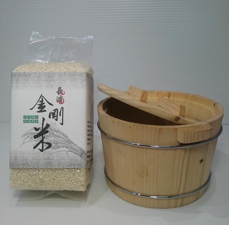 以自然農法栽種的長濱金剛米。圖/林張凱耀提供
