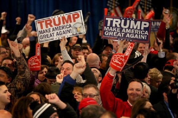 川普勝選,支持者為之瘋狂。圖/網路