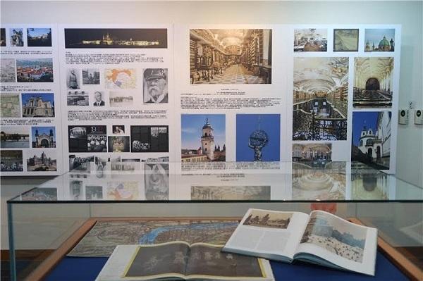 本次展覽除圖文並茂的大圖展出,還搭類介紹捷克風情的輪播影片 圖/國家圖書館提供