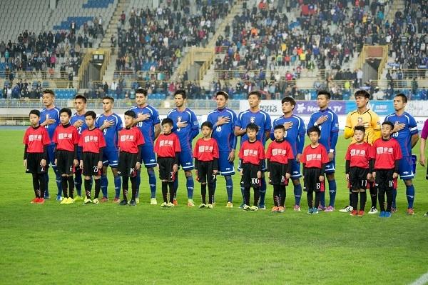 在全場近6000名觀眾的注目下,中華隊為國家的榮耀奮戰 圖/鄭哲宇