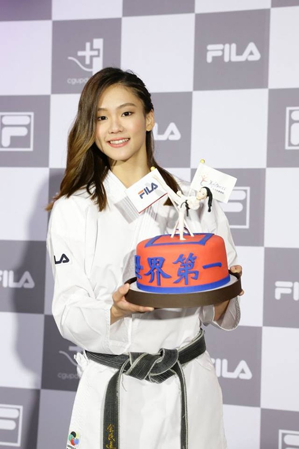 文姿云感謝一路上支持她的人,希望之後能讓大家關注更空手道運動,並讓世界看見台灣。 圖/文姿云wen,tzu-yun粉絲專頁