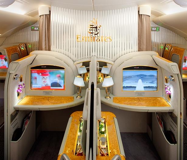 阿聯酋航空頭等艙。圖/取自阿聯酋航空官方網站