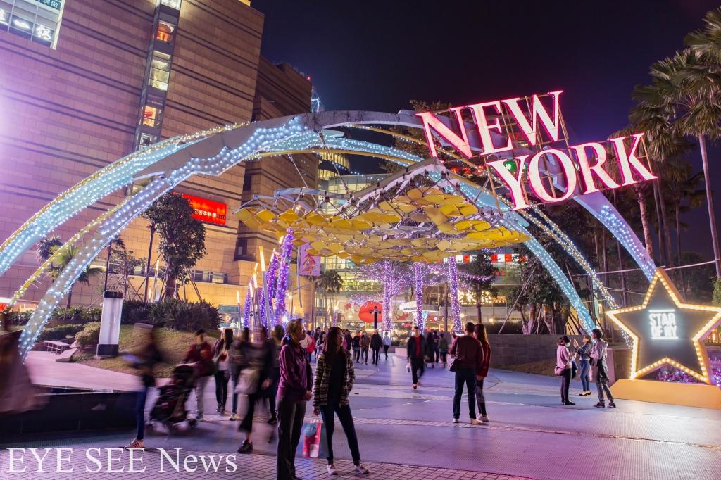 景點名稱:夢時代廣場,主題為紐約曼哈頓的自由島
