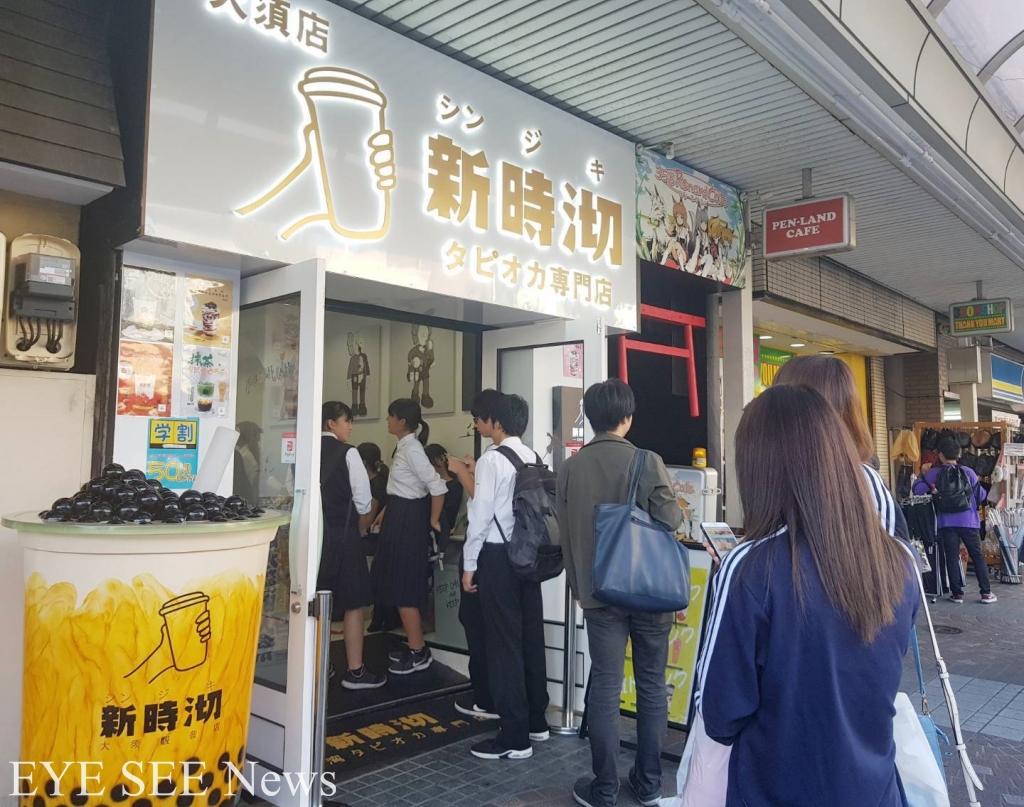日本平常日下午,排隊買珍珠奶茶也是理所應當。圖/鄭哲宇攝